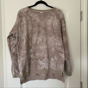 Little Bipsy Taupe Tie-Dye Pullover